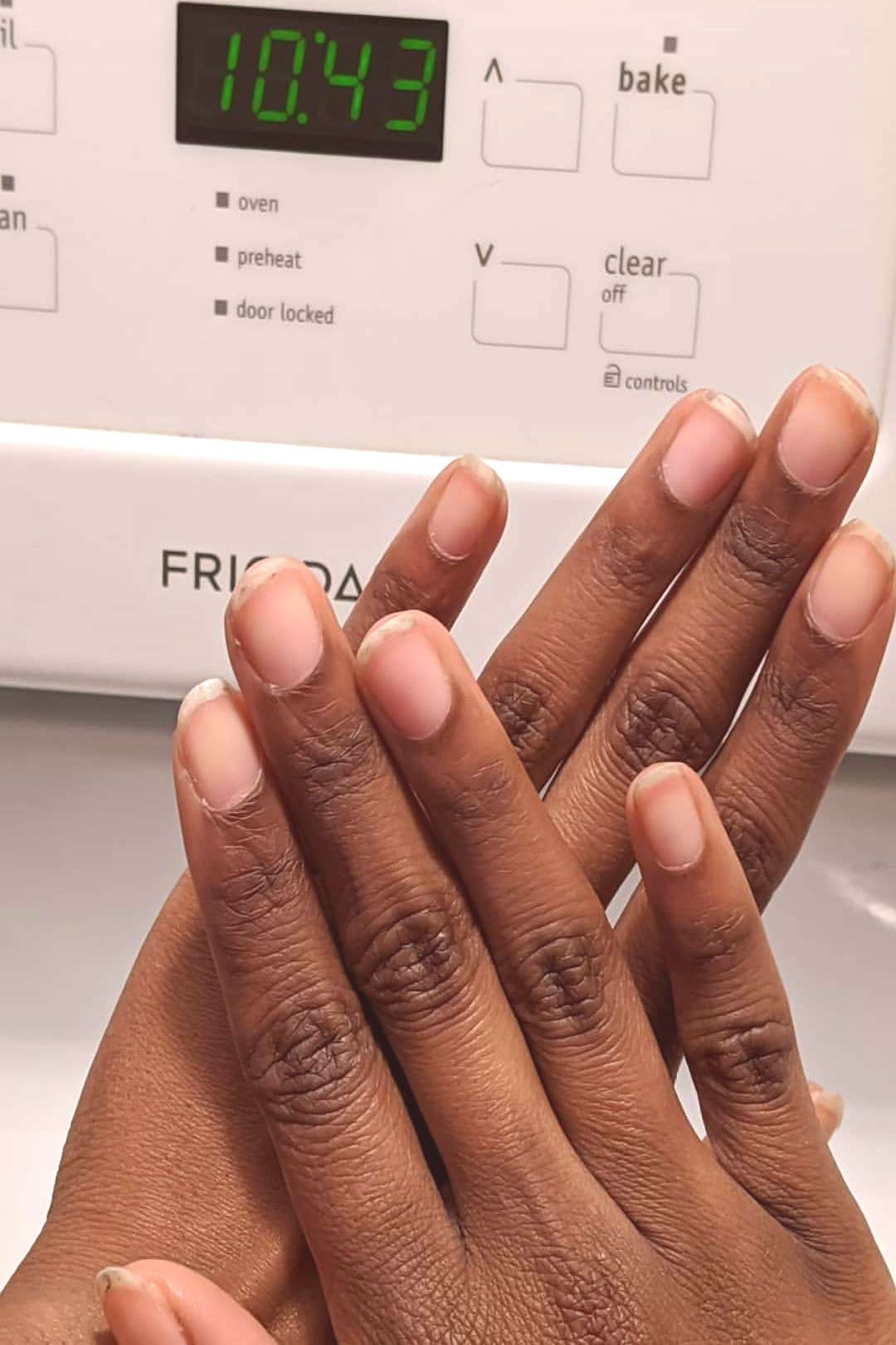 How long do you think this mani took? Swipe or scroll down for t
