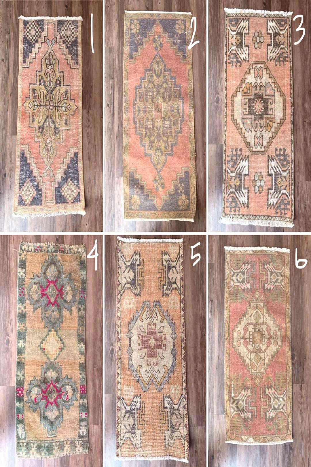 LEAP YEAR Mini Rug $120 each ($10 shipping) 1. 16quotx31quot pink, n