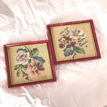 A pair of needlepoint florals for all the grannies out there! Ima