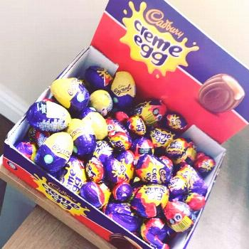 All stocked up ready for Easter good job I don't like creme eggs