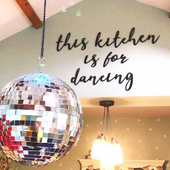 Because EVERY kitchen needs a disco ball . . . #myhome #myhomevib