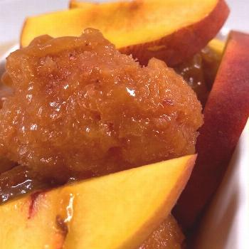 Bourbon Maple Peach Sorbet try this recipe at home this weekend,
