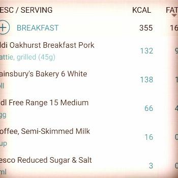 Breakfast 355 cals Yet again was very nice sitting and eating som