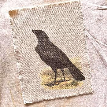 Can you do me a raven, on fabric and unframed? Of course! And jus