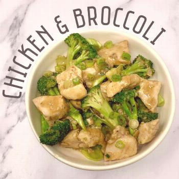 Chinese chicken and broccoli the perfect Sunday night dinner! .
