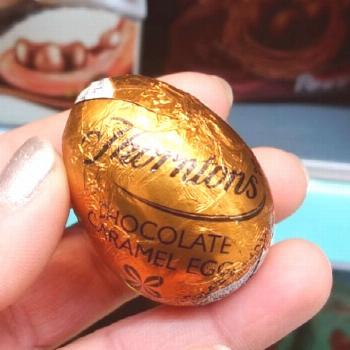 Chocolate Caramel Egg Available in 60p each or 2 for (pounds)1 #m