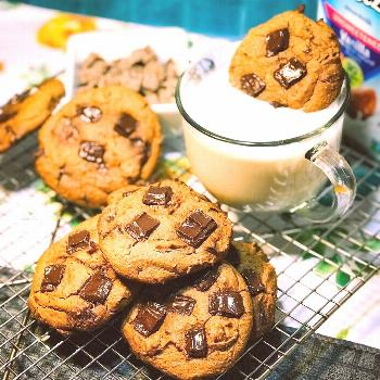 Chunky Chocolate Chip Chickpea Cookies Recipe/Instructions in 3rd