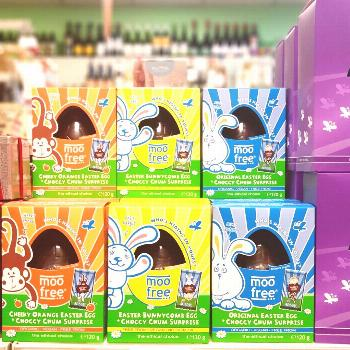 Dairy free/vegan Easter eggs are now available in store and onlin