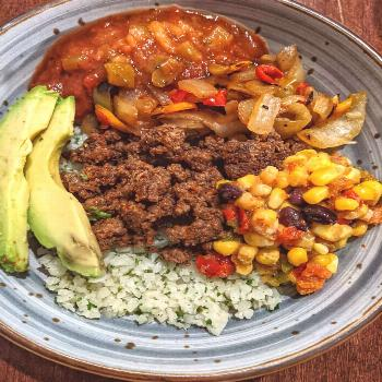 DIY Burrito Bowls . Delicious & Quick Meal with simple Ingredient