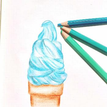 done by M #cooldrawings #ilovedrawing #letsdraw#icecreamdrawing #