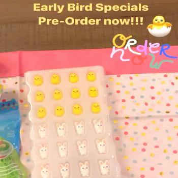 Early Bird Specials, order now and ask about free shipping/delive