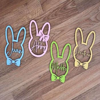 Easter Basket Name Tags Now Available to order! So many colors to