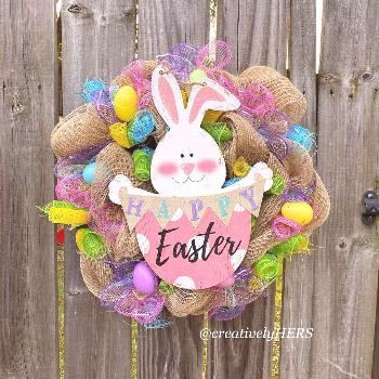 Easter Wreaths hooping in !! I couldn't resist! This simple but a