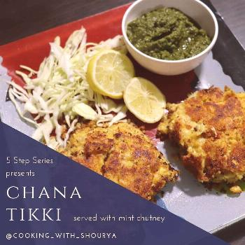 food possible text that says 5 Step Series presents CHANA TIKKI s