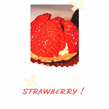 food possible text that says STRAWBERRY