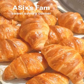 food text that says ASixs Fam sweet savory corner