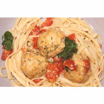 ️Fresh take on pasta and meatballs ️ *** Chicken meatballs an