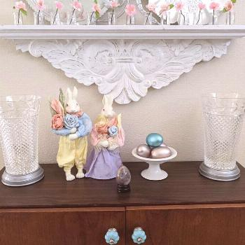 Getting ready for spring! . #easterdecor #pastels #abd