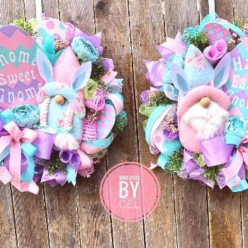 Gnome Easter Double Door Wreaths Now listed in my Etsy shop. #wre