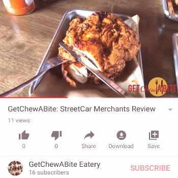 Go watch my latest food review. It's on YouTube. Click the link i