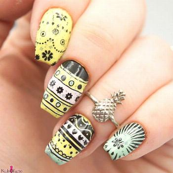 Hey Pretty Pineapples! . Easter egg nails! I felt the need to do