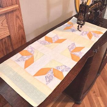 I shared this quilt in an earlier post. Now here are two items I