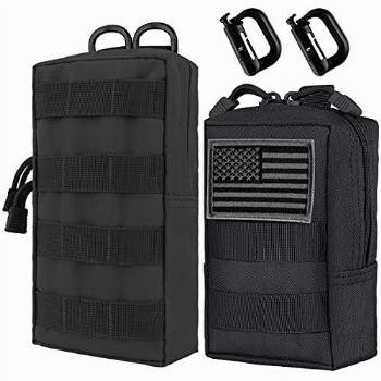IronSeals 2 Pack Molle Pouches, Tactical Compact
