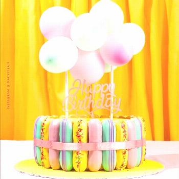It's finally here! New Eclair Cake Design with Balloon Garland on