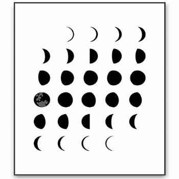 Moon Phases Wall Art Moon Poster Moon Phase Art Moon Phases