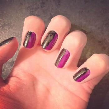 Nails inspired by the darker tracks on the new BTS album, such as