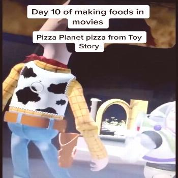 Pizza Planet Pizza from Toy Story Ingredients: Mozzarella cheese,