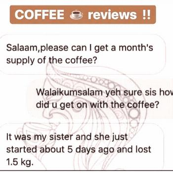 possible text that says COFFEE reviews Salaampl olease can I get