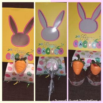 Preorder you Easter treats. Box includes 6 pretzel rods, 6 chocol