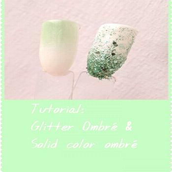 Quick Tutorial on how I Glitter ombre and 2 solid color ombre! Th
