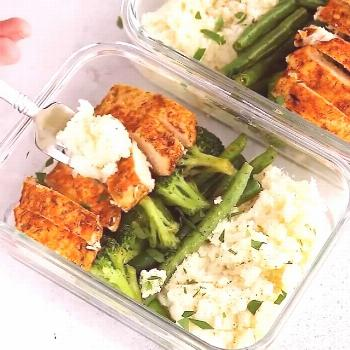 SPICY CHICKEN MEAL PREP BOWLS By:  . Plan ahead for the wee