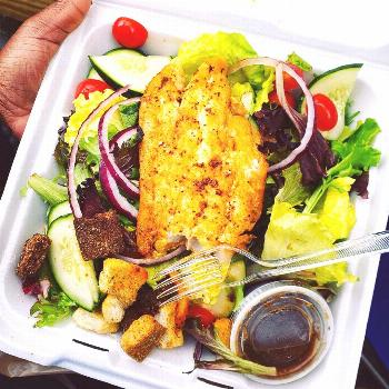 Super tasty #lunch today courtesy of ....the fish was amazing!!!!