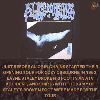 text that says JUST BEFORE ALICE IN CHAINS STARTED THEIR OPENING
