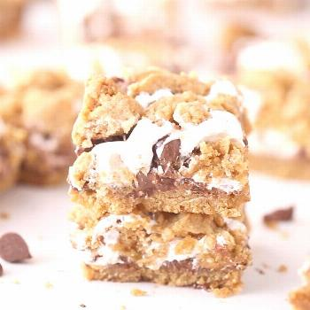 These S'MORES BARS are featured on today! All of the components o