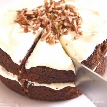 This is our favorite recipe for carrot cake! It is 100% made from