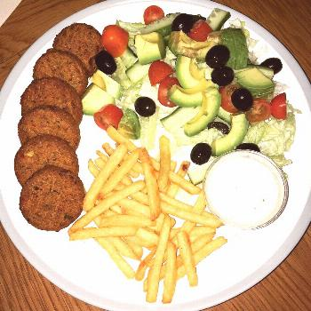 Tried the #plantkitchen #falafels tonight with a little salad and