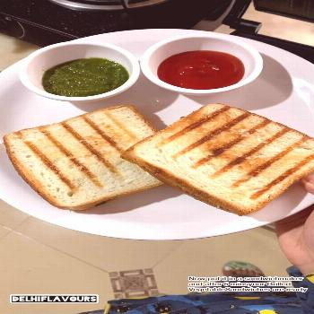 Watch me making this easy recipe of Veg Grilled Sandwiches with p