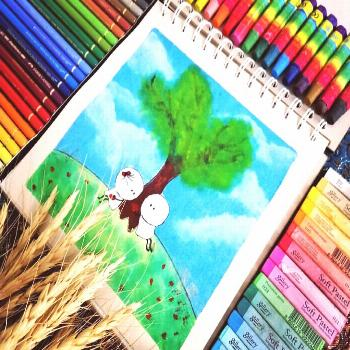 We try to hide our feeling but forget our eyes speak #color #draw