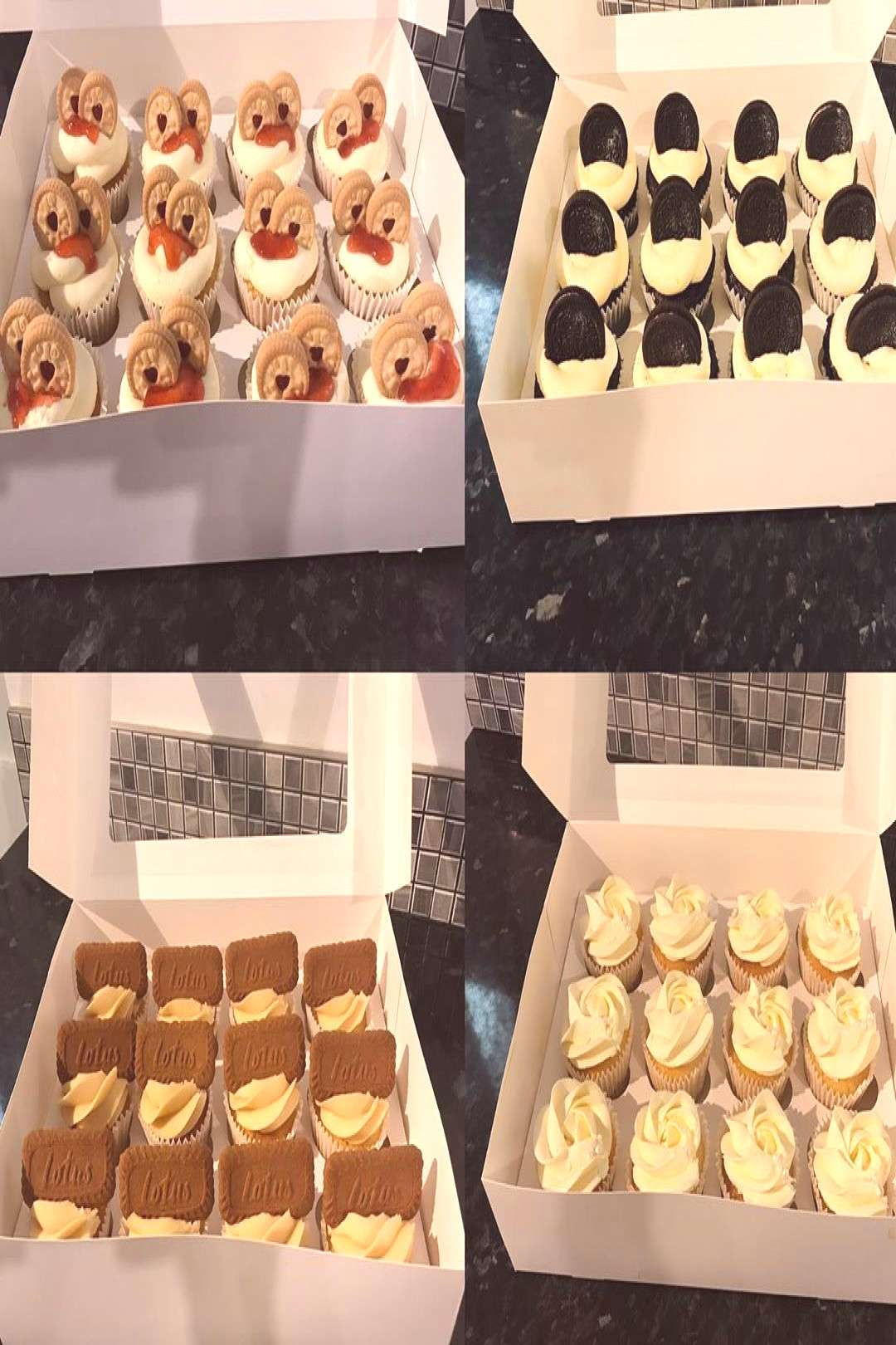 40th Birthday cupcakes Cupcakes are Jammy Doger Lotus Biscoff Car