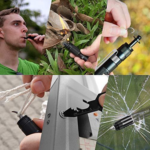 AbeuRox Multitool Tactical Survival Gear with Lighter(No