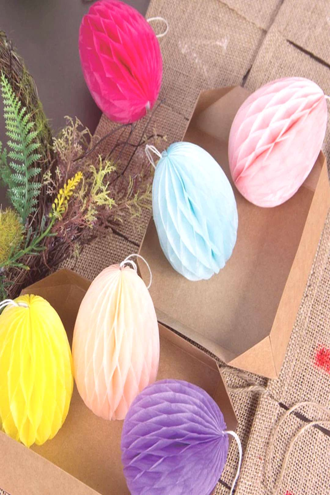 Bright, pretty and perfect for decorating your home for Easter. #