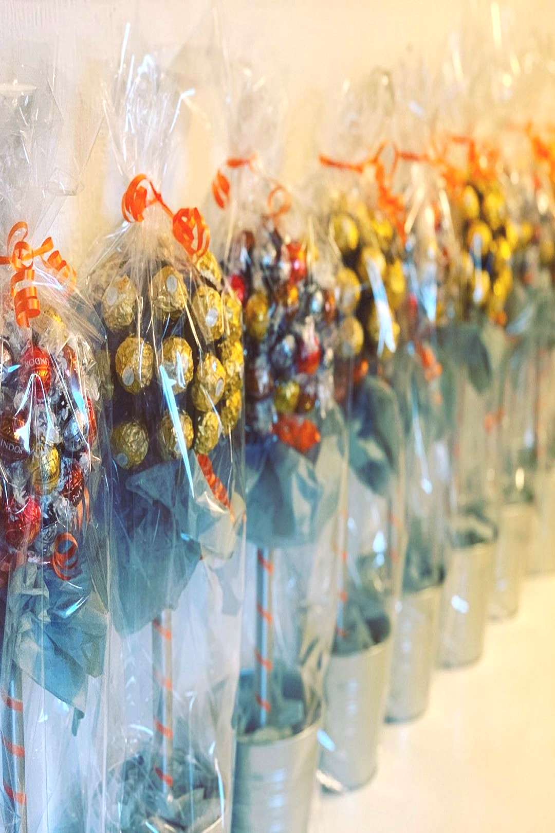 CandyCane Lindt Lenor and Ferrero Rocher Sweet Trees for when you