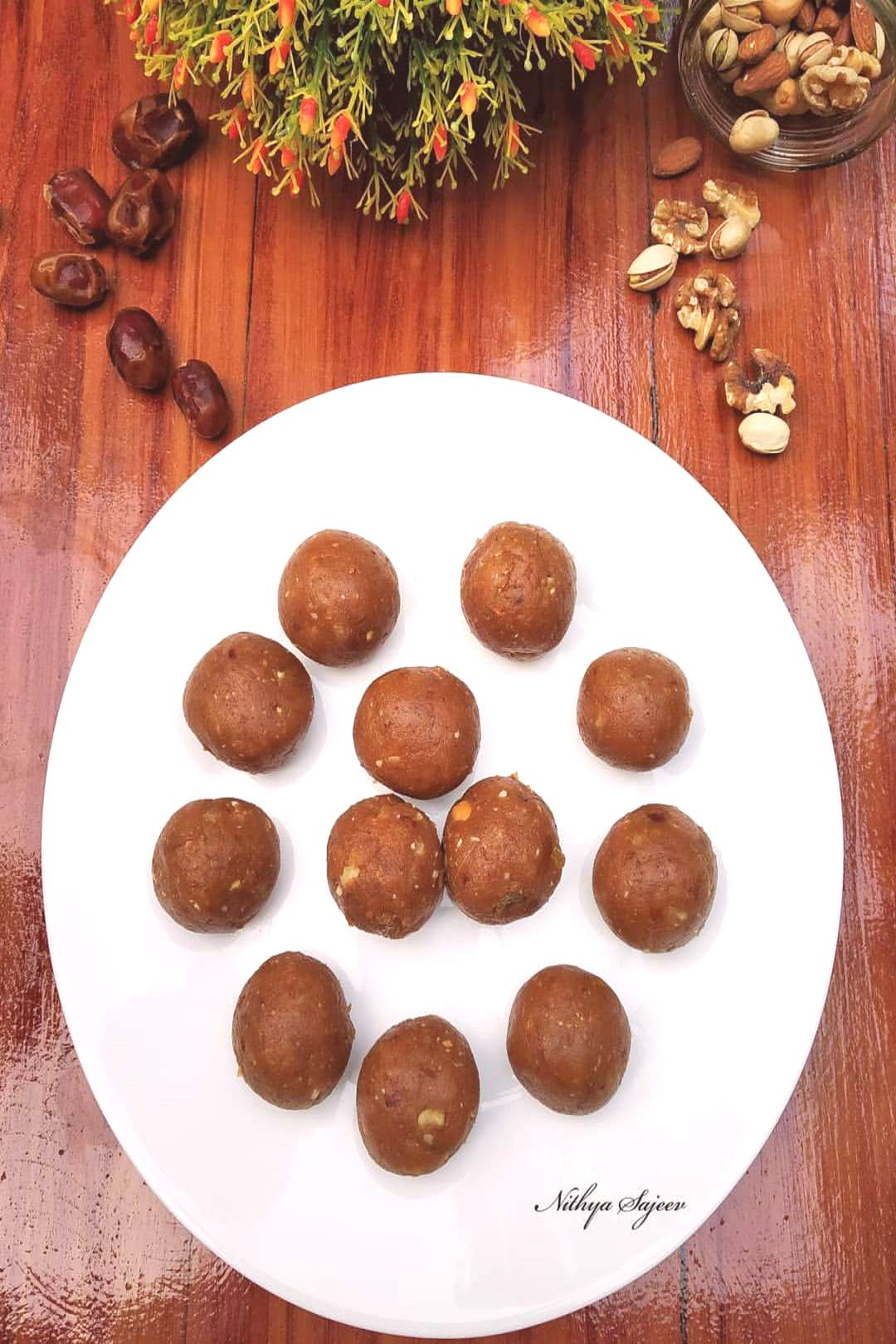 Dates and biscuit ladoo . . . . . . An easy sweet or snack that c