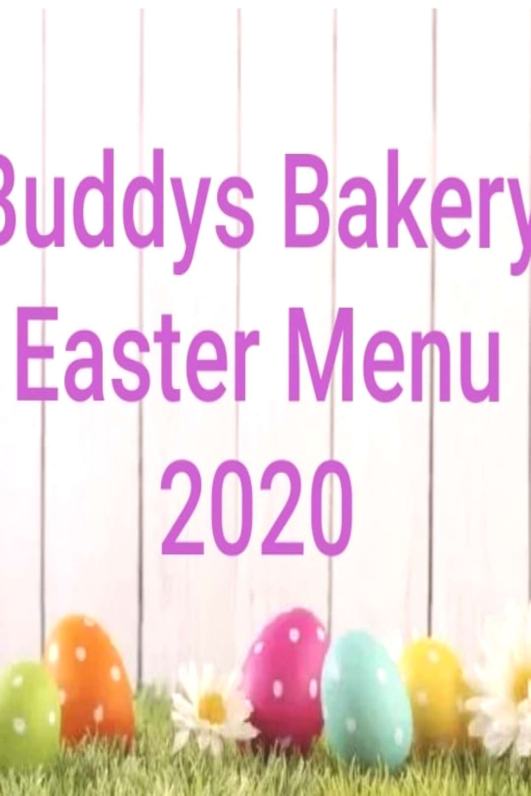 EASTER MENU 2020 All available now in our Etsy shop! #eastertreat