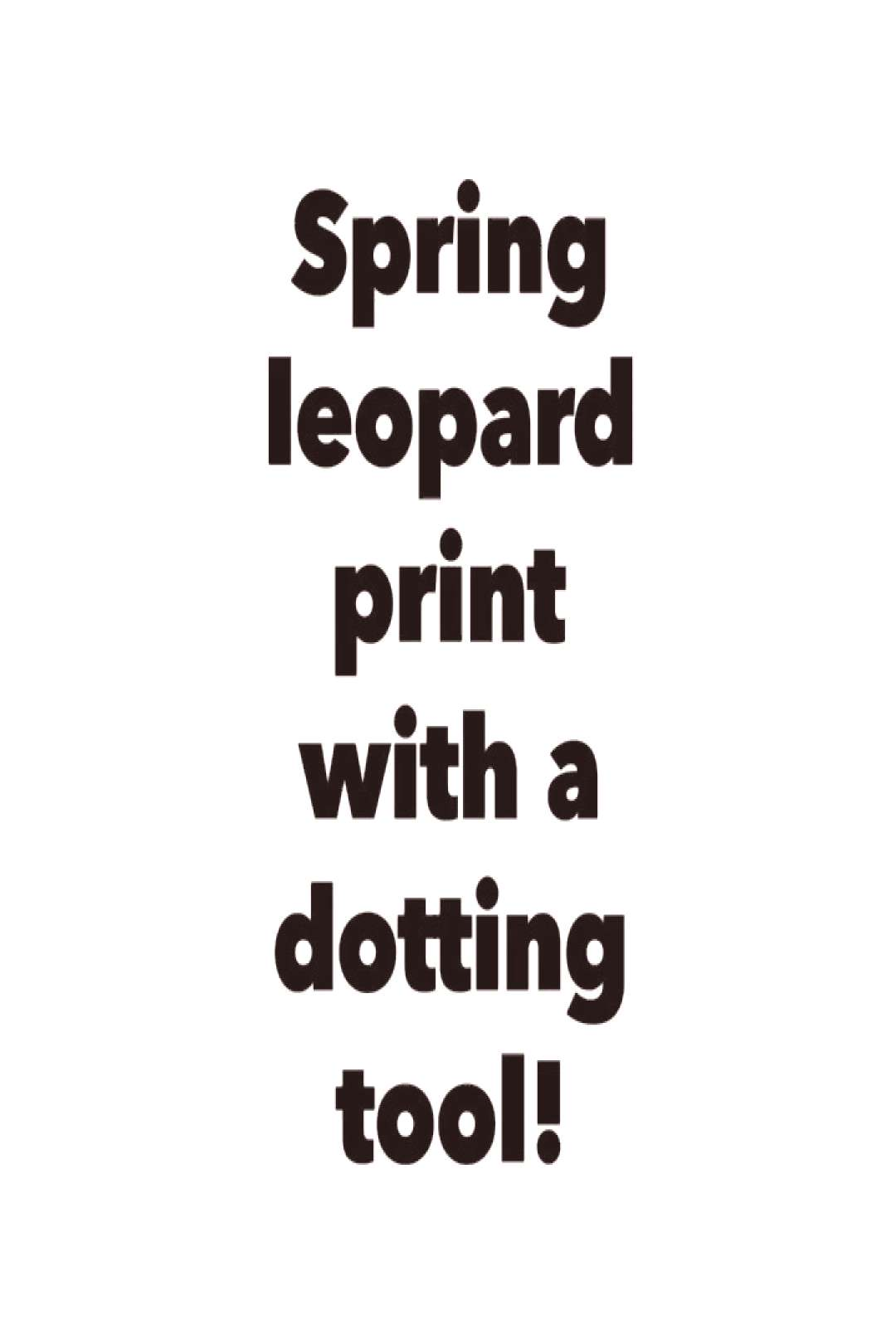 Easy fun nail art! Spring leopard print with a dotting tool!! na