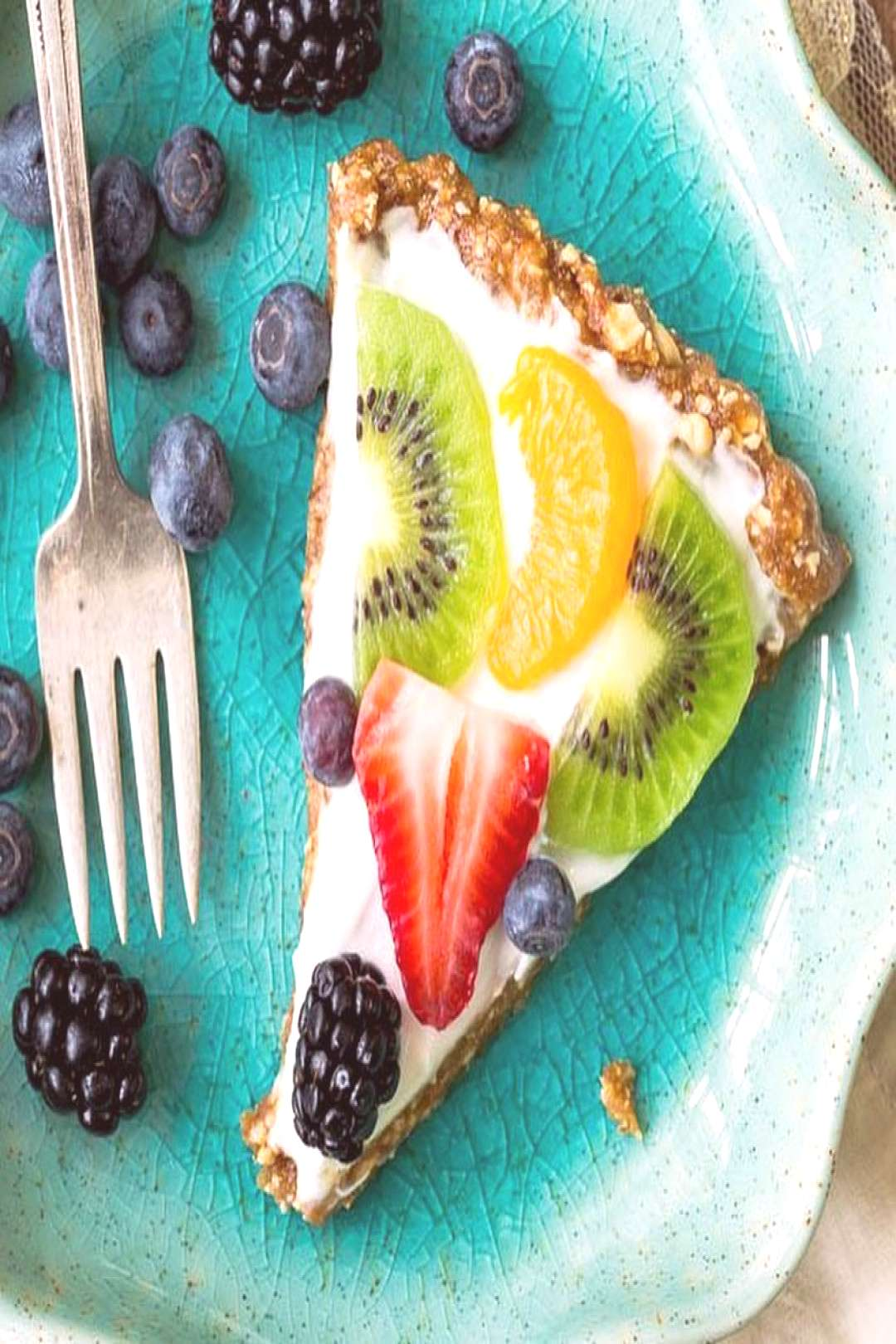 Enjoy this colorful and delicious Fruit Tart!! Healthy, protein-p
